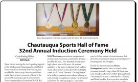 Chautauqua Sports Hall of Fame 32nd Annual Induction Ceremony Held., February 25, 2013.