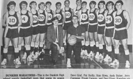 Dunkirk High School 1970-71 basketball team.