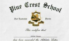 Pine Crest Letter. 1985.