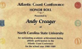 ACC Honor Roll. 1988-1989.