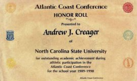ACC Honor Roll. 1989-1990.
