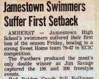 Jamestown Swimmers Suffer First Setback. January 14, 1983.