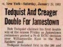 Tedquist And Creager Double For Jamestown. January 29, 1983.