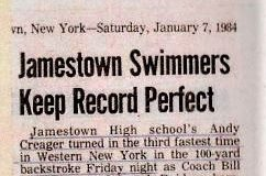 Jamestown Swimmers Keep Record Perfect.