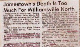 Jamestown's Depth Is Too Much For Williamsville North. December 17, 1982.