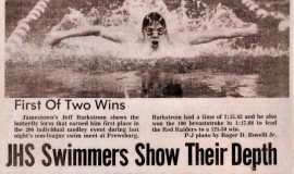JHS Swimmers Show Their Depth. December 21, 1983.