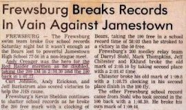 Frewsburg Breaks Records In Vain Against Jamestown.  February 19, 1983.