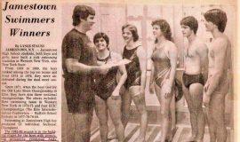 Jamestown Swimmers Winners.
