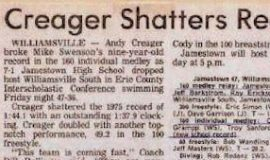 Creager Shatters Record.