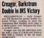 Creager, Barkstrom Double In JHS Victory.