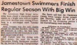 Jamestown Swimmers Finish Regular Season With Big Win.