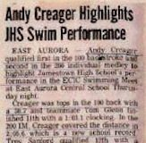 Andy Creager Highlights JHS Swim Performance.
