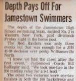Depth Pays Off For Jamestown Swimmers.