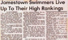 Jamestown Swimmers Live Up To Their High Rankings.