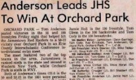 Anderson Leads JHS To Win At Orchard Park.