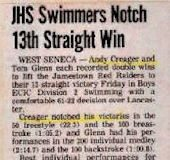 JHS Swimmers Notch 13th Straight Win.