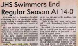 JHS Swimmers End Regular Season At 14-0.