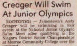 Creager Will Swim At Junior Olympics.