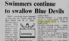 Swimmers continue to swallow Blue Devils.