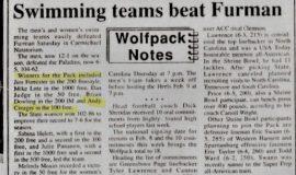 Swimming teams beat Furman.