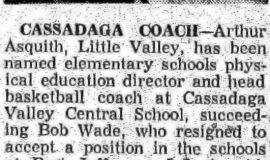 Cassadaga Coach. 1957.