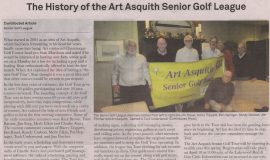 The History of the Art Asquith Senior Golf League. April 1, 2016.