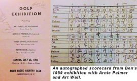 Scorecard from exhibition, July 26, 1959.
