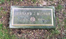Burial marker of Ben Bishop.