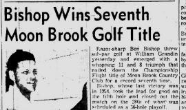 Bishop Wins Seventh Title. September 17, 1956.