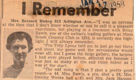 The Sport Highlight I Remember. January 17, 1958.