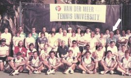 Betty Bartkowiak, at the Van Der Meer Tennis University, 1984.