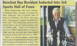 Barefoot Bay Resident Inducted into 3rd Sports Hall of Fame. 2012.