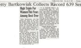 Betty Bartkowiak Collects Record 639 Set. January 1965.