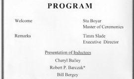 Section 6 HOF program