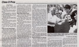 Playing At A Small School Can Have Big Rewards. Page 2. September 7, 2001.