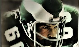 This photo of Bill Bergey  hangs in the Philadelphia Eagles facility.