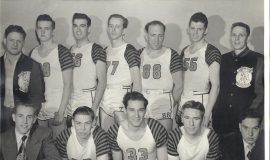 Bill Present, back row, third from left, with the Jamestown Vikings in late 1940s.