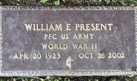 Bill Present's burial marker, Lake View Cemetery, Jamestown, NY.