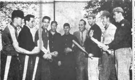 Pre-Game H i-Jinks In Rec Opener.  May 22, 1957.