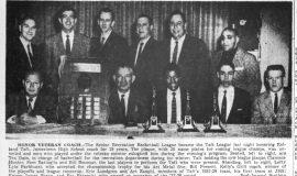 Honor Veteran Coach.  April 10, 1957.
