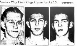 Seniors Play Final Cage Game for J.H.S. March 25, 1941.
