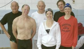 Jamestown YMCA Masters swim team.