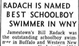 Radack Is Named Best Schoolboy Swimmer In WNY.  December 27, 1955.