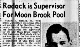 Radack is Supervisor For Moon Brook Pool. February 16, 1957.