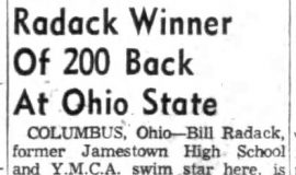 Radack Winner Of 200 Back At Ohio State. February 28, 1959.