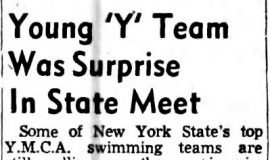 Young 'Y' Team Was Surprise In State Meet.  May 17, 1954.