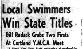 Local Swimmers Win State Titles.  May 9, 1955.