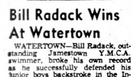 Bill Radack Wins At Watertown.  August 10, 1954.