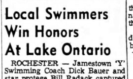 Local Swimmers Win Honors At Lake Ontario. September 1, 1954.