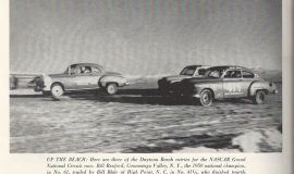 Car on left is Bill Rexford in this 1951 card.